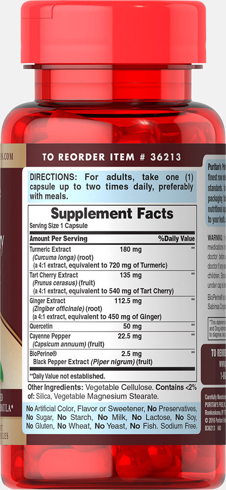 Cherry Turmeric Complex with Bioperine Thumbnail Alternate Bottle View