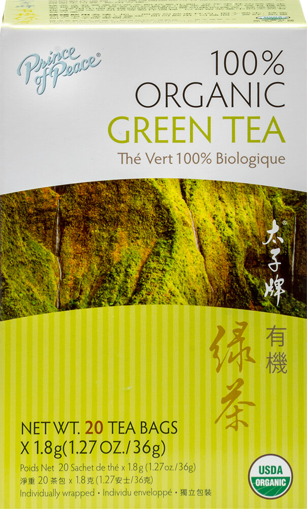 100% Organic Green Tea Thumbnail Alternate Bottle View