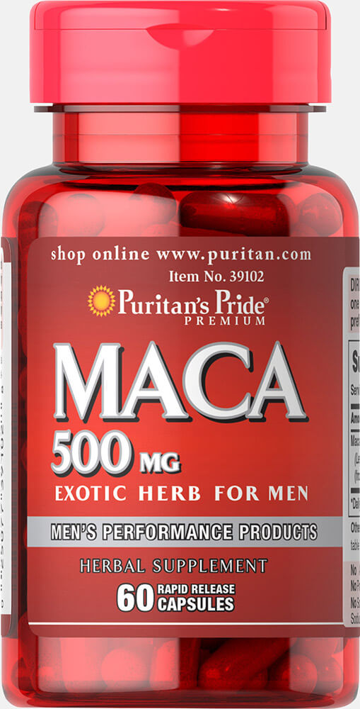 Maca 500 mg Thumbnail Alternate Bottle View