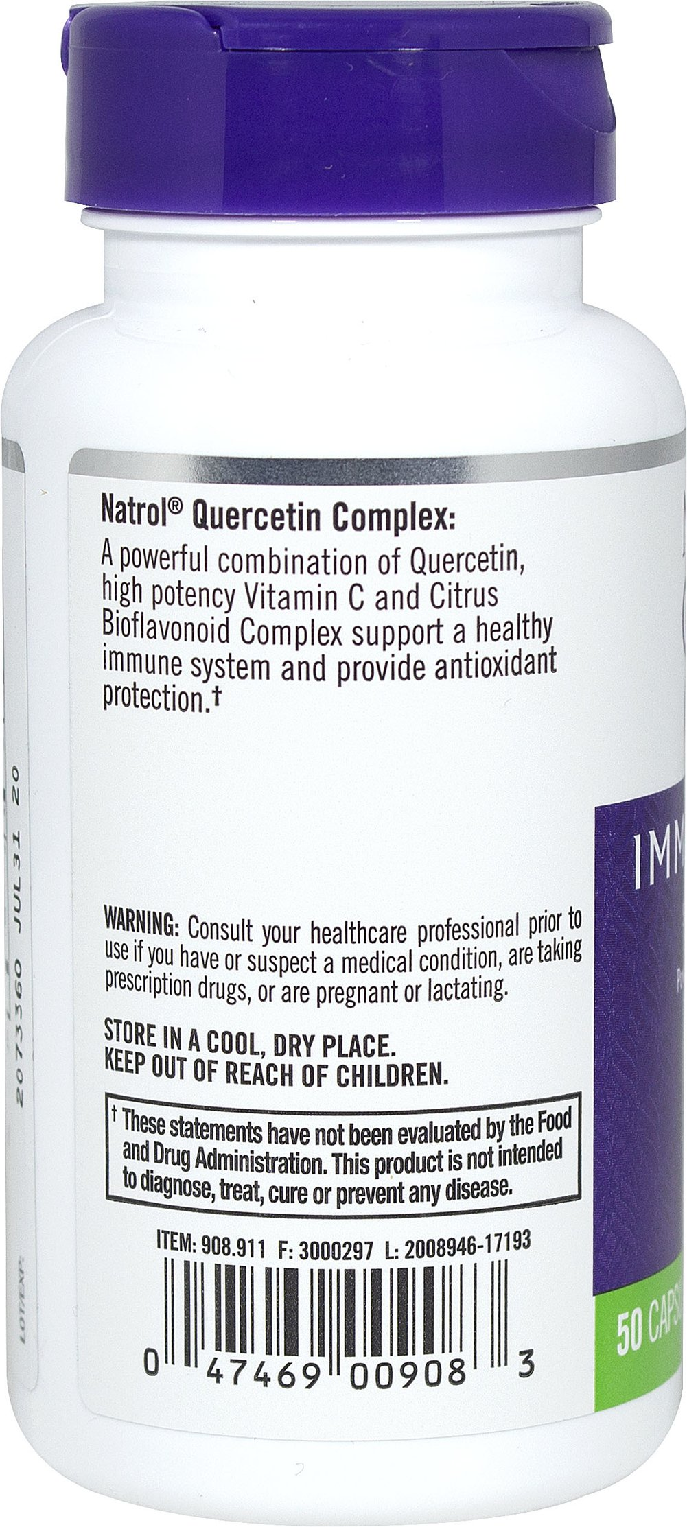 Quercetin 250 mg Thumbnail Alternate Bottle View