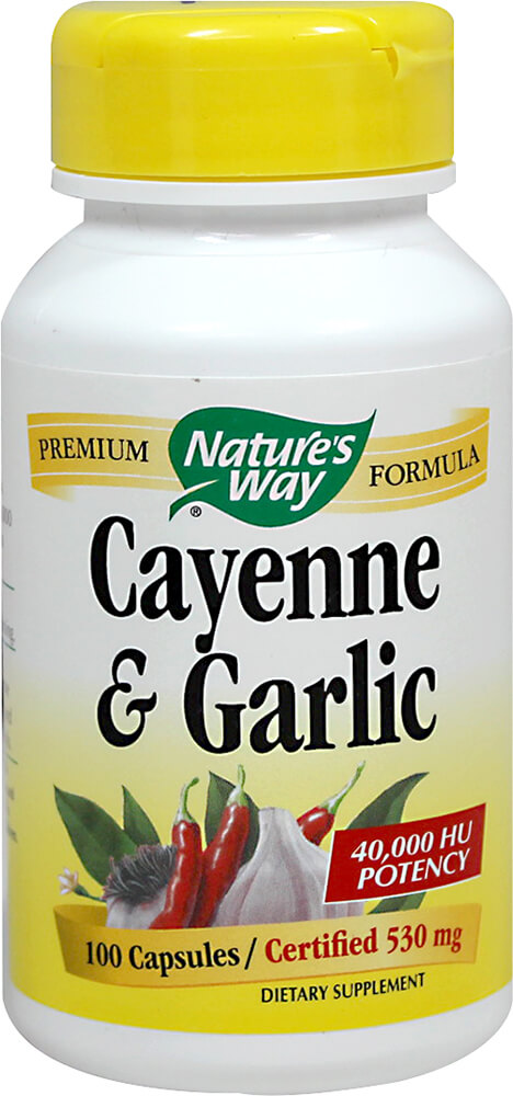 Cayenne & Garlic 530 mg 40,000 HU