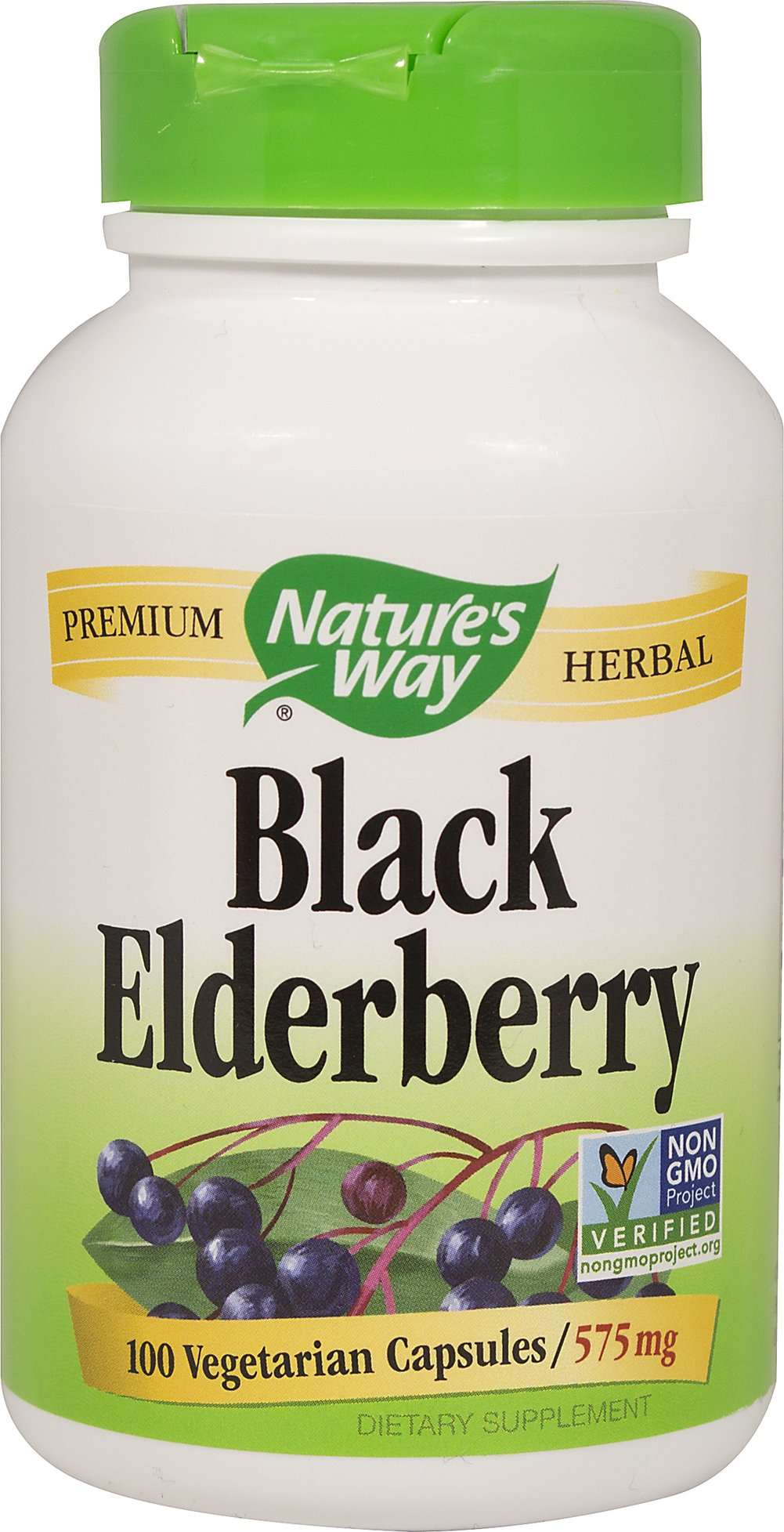 Black Elderberry 575 mg Thumbnail Alternate Bottle View