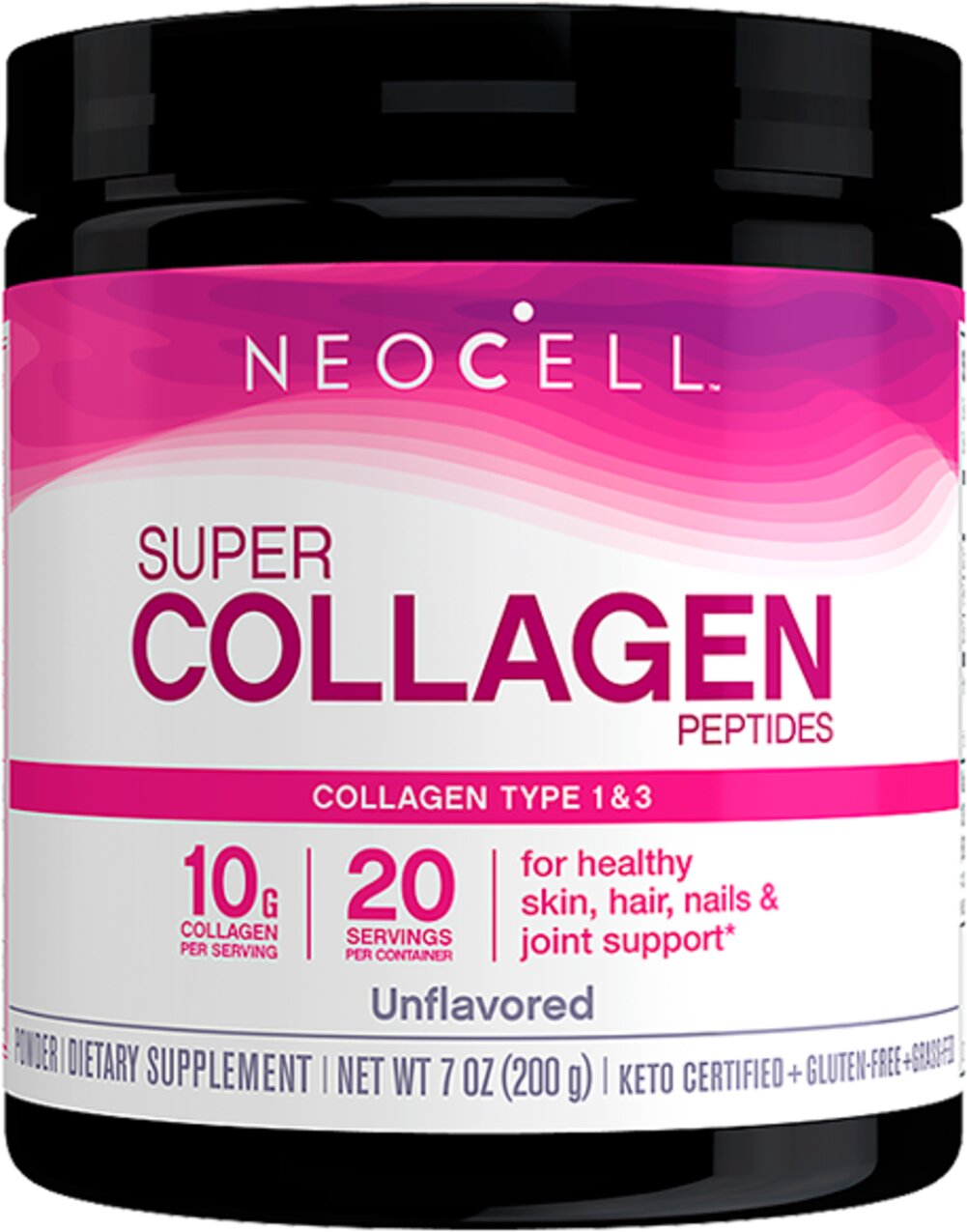 Super Collagen Peptides Type 1 & 3 Thumbnail Alternate Bottle View