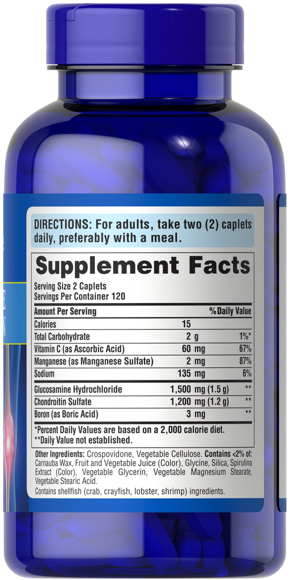 Glucosamine Chondroitin 750 mg/600 mg Thumbnail Alternate Bottle View