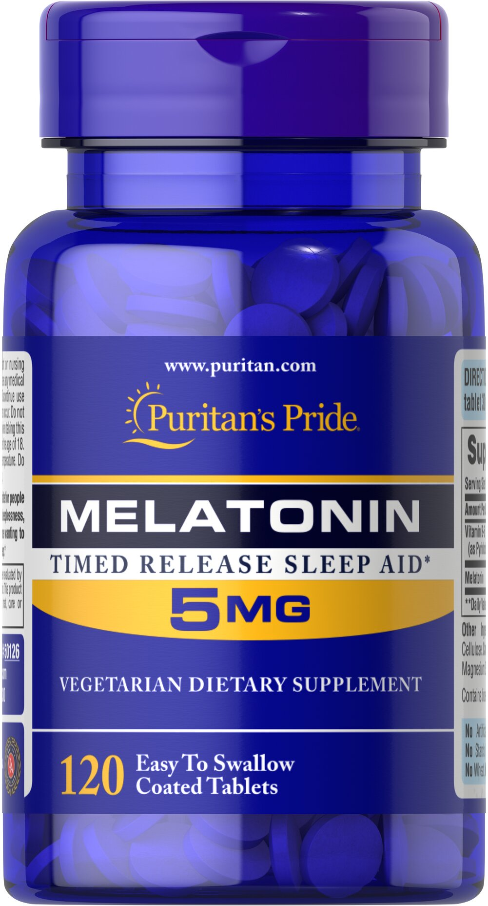 Melatonin 5 mg Timed Release Thumbnail Alternate Bottle View