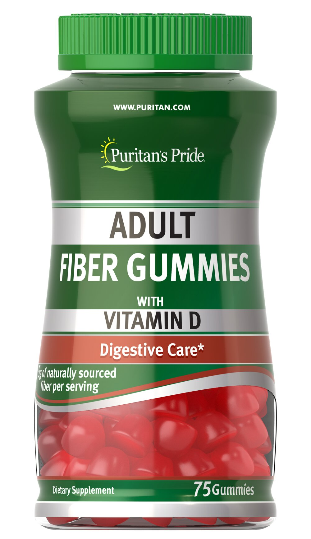 Adult Fiber Gummies with Vitamin D Thumbnail Alternate Bottle View