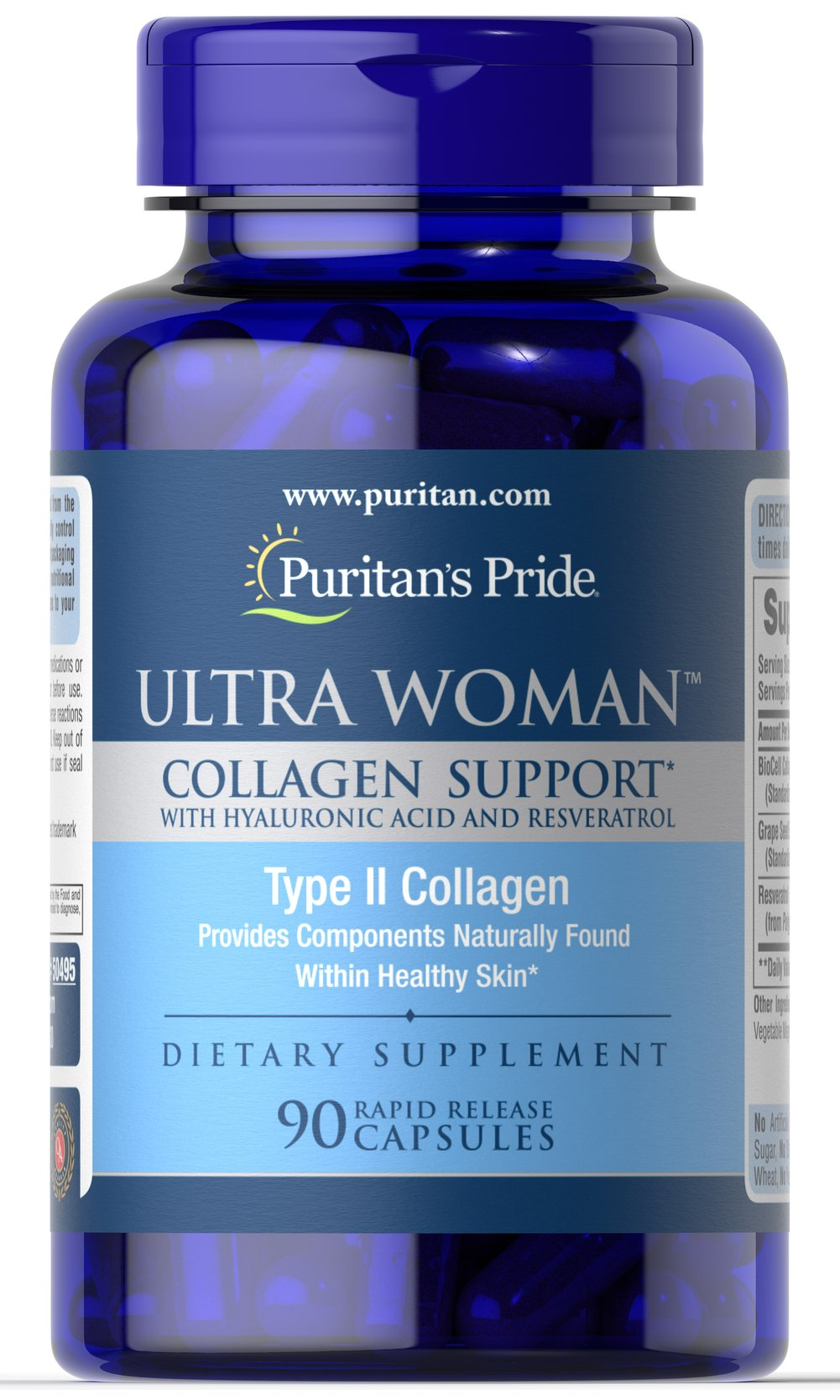 Ultra Woman™ Collagen Support  1000mg with Hyaluronic Acid Thumbnail Alternate Bottle View