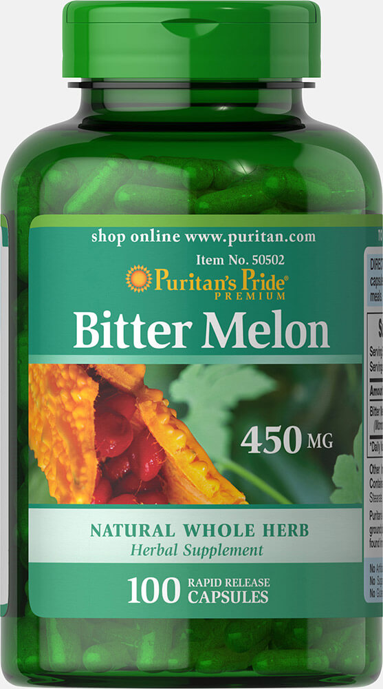 Bitter Melon 450 mg Thumbnail Alternate Bottle View