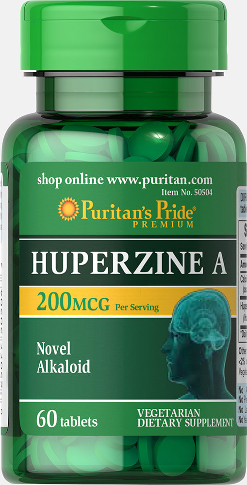Huperzine A 200 mcg Thumbnail Alternate Bottle View