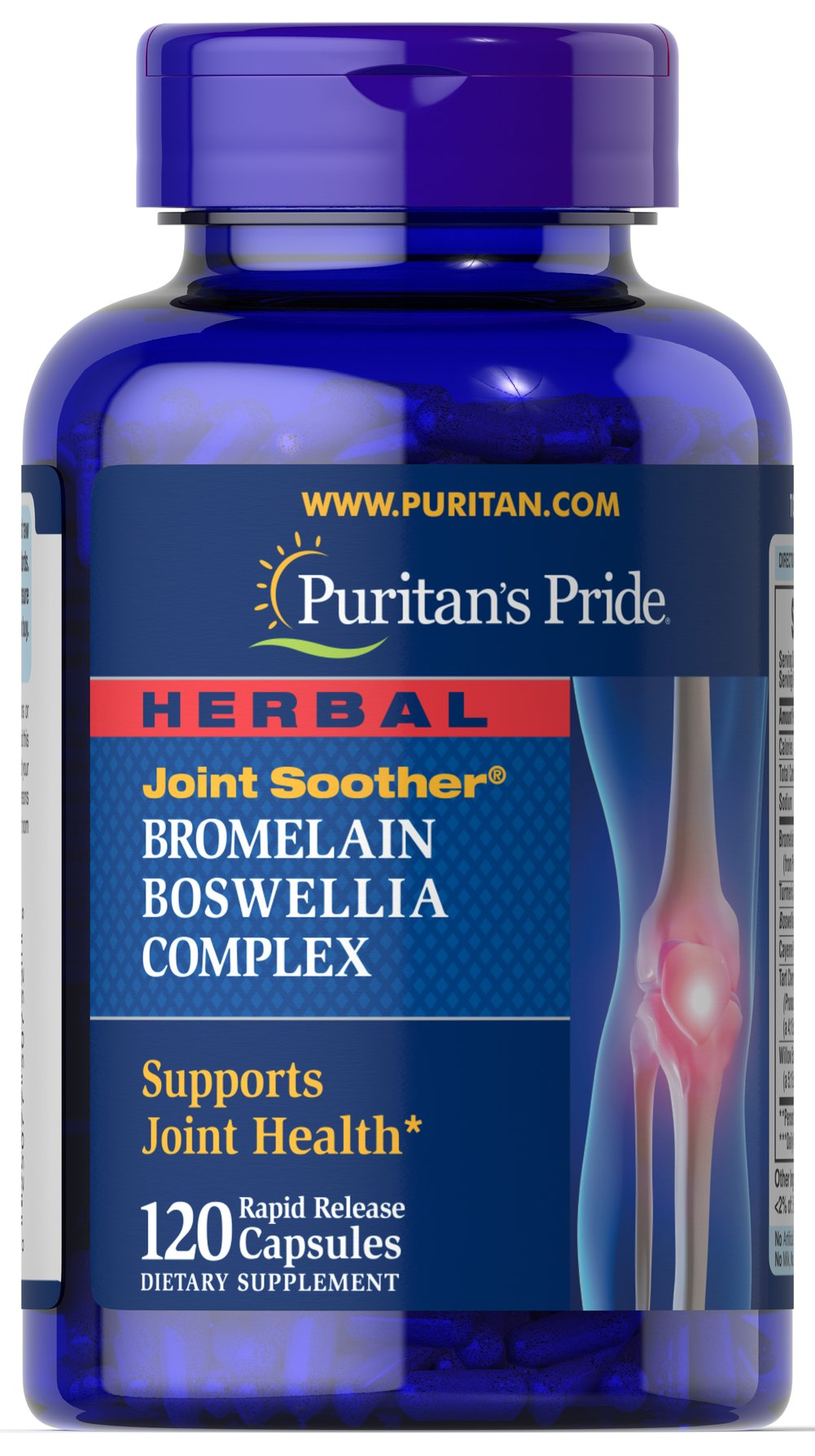 Herbal Joint Soother® Bromelain Boswellia Complex with Turmeric Thumbnail Alternate Bottle View