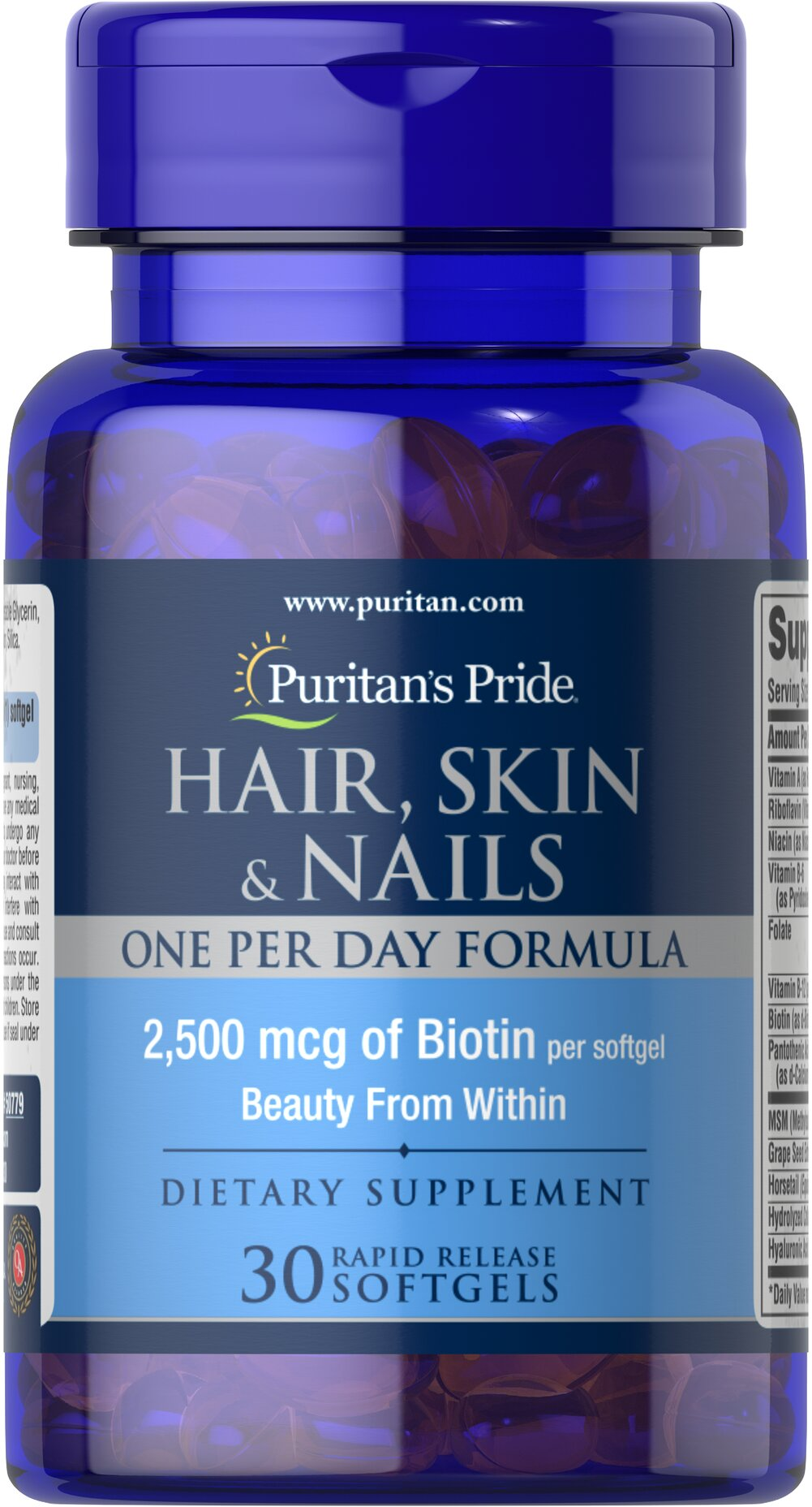 Hair, Skin & Nails One Per Day Formula Thumbnail Alternate Bottle View