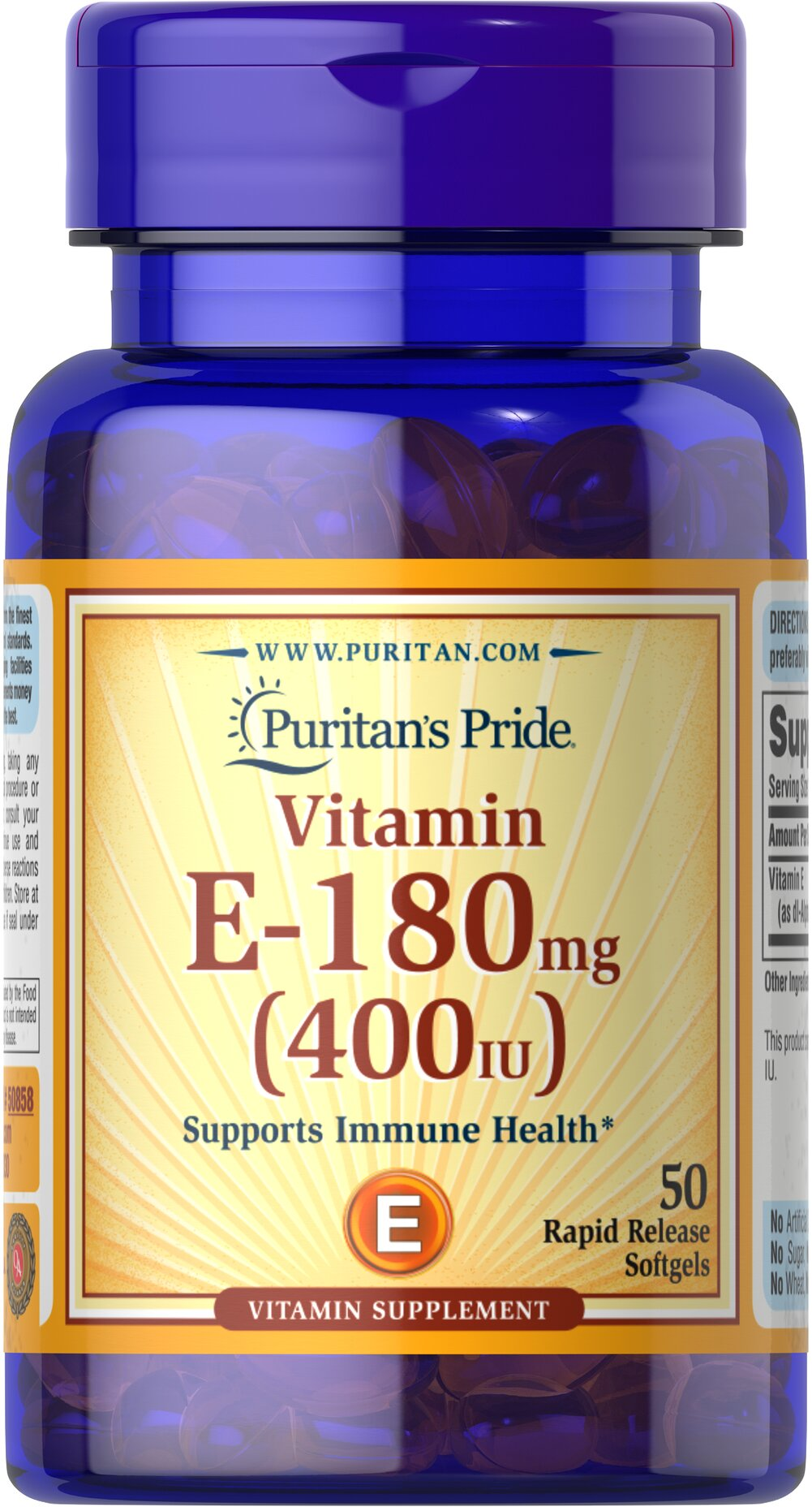 Vitamin E-400 IU Thumbnail Alternate Bottle View
