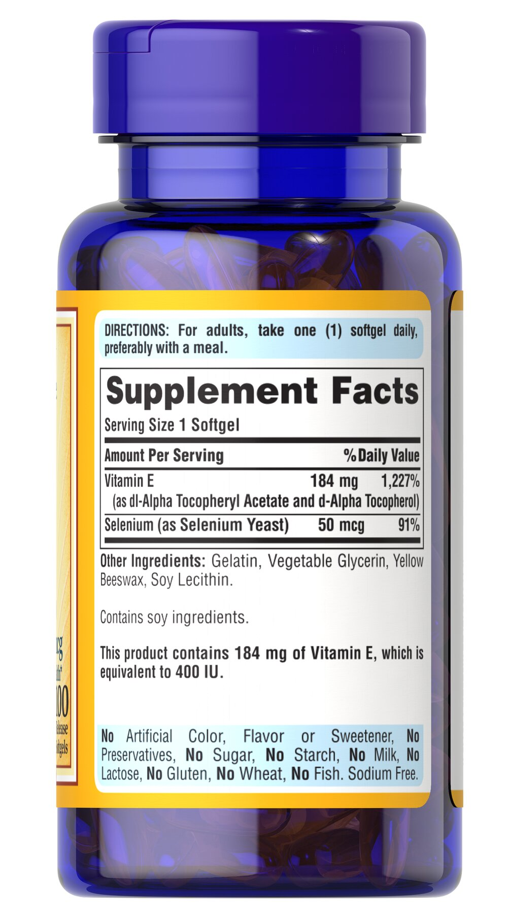 Vitamin E-400 IU with Selenium 50 mcg
