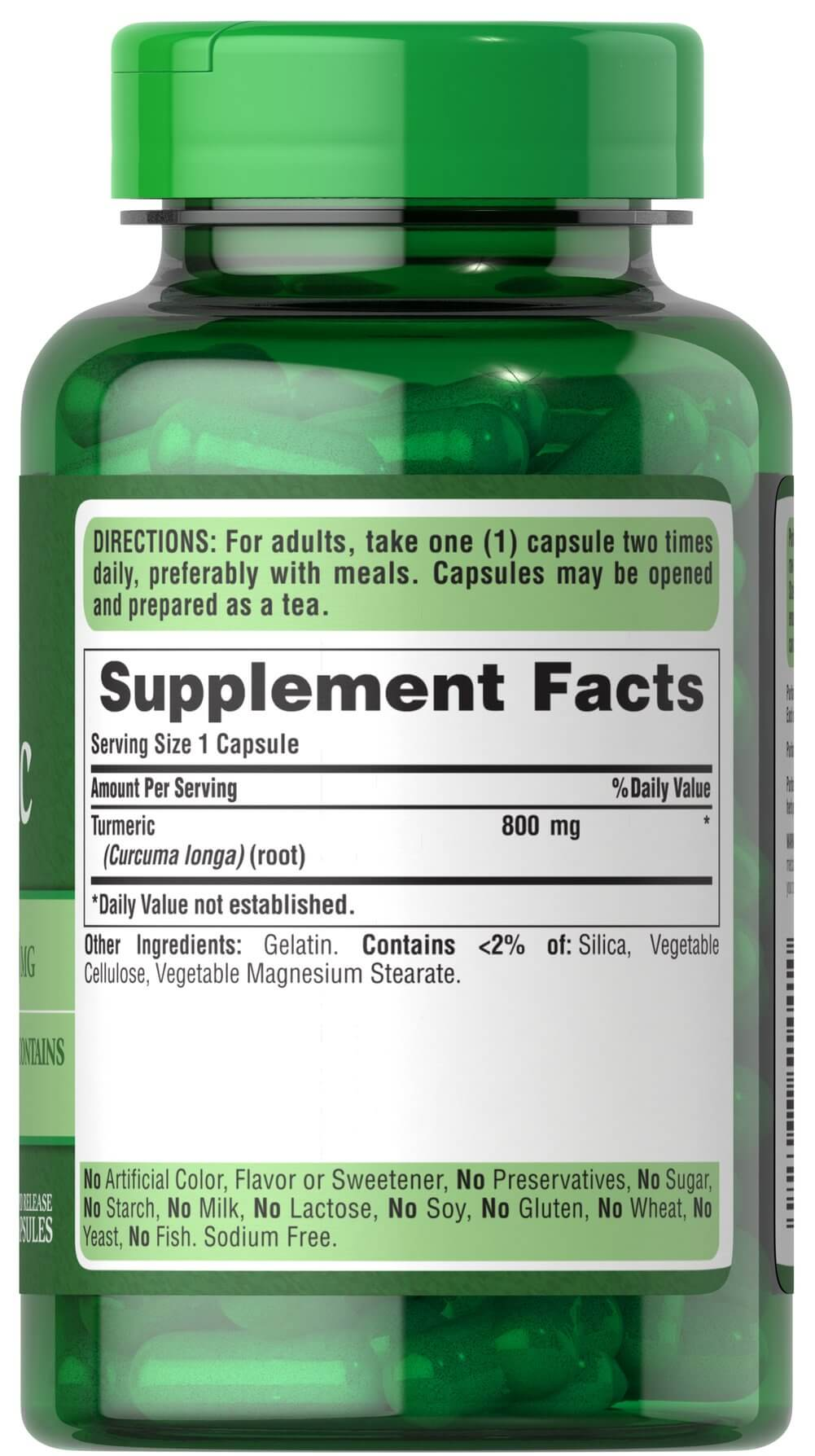 Turmeric 800 mg Thumbnail Alternate Bottle View