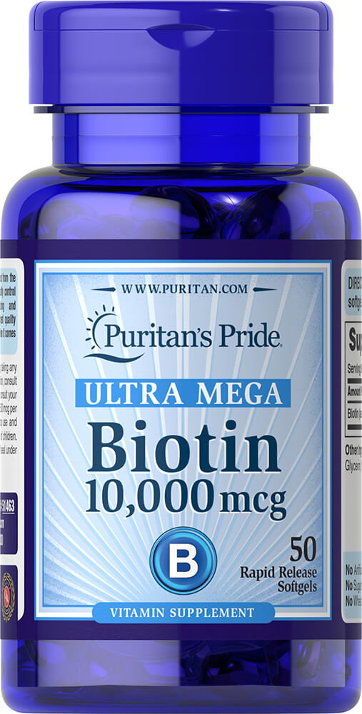 Biotin 10,000 mcg Thumbnail Alternate Bottle View