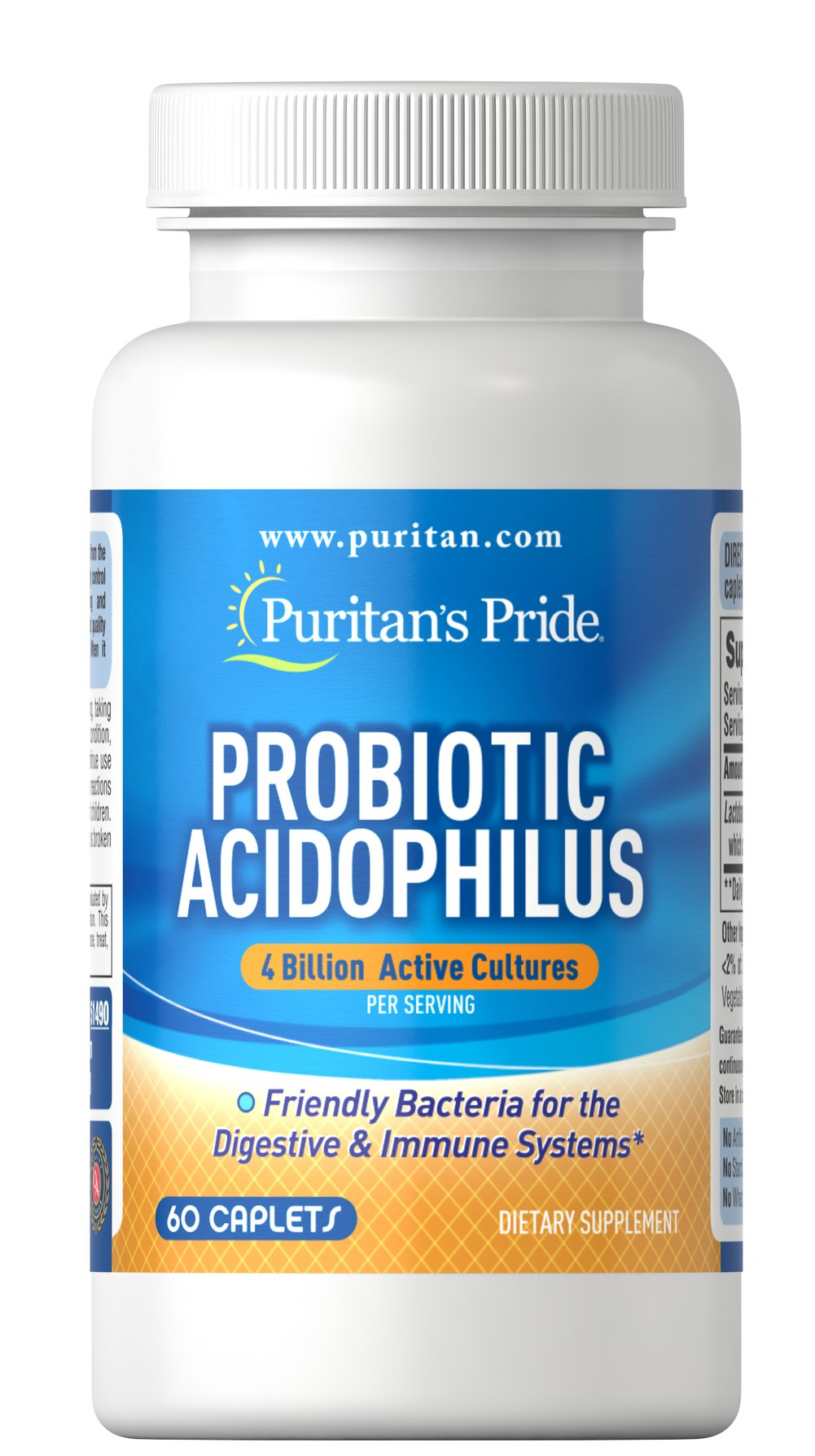 Acidophilus & Digestive Enzymes Thumbnail Alternate Bottle View