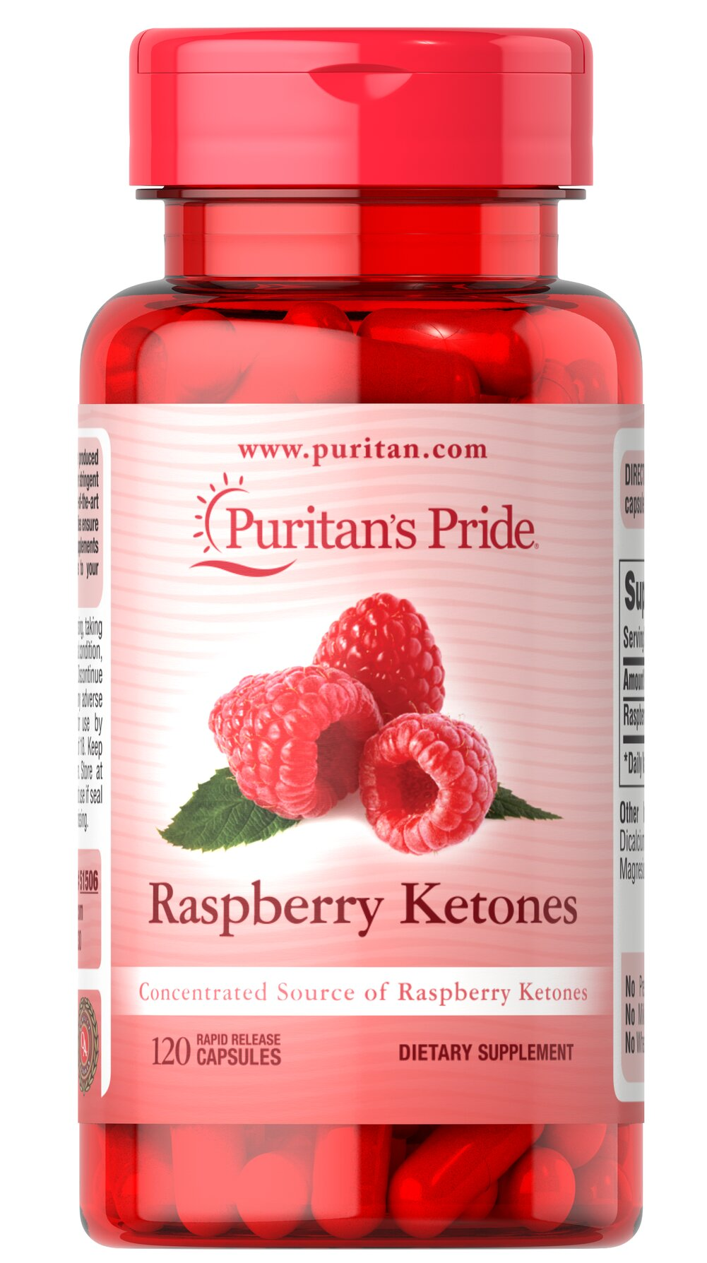 Raspberry Ketones 100 mg Thumbnail Alternate Bottle View
