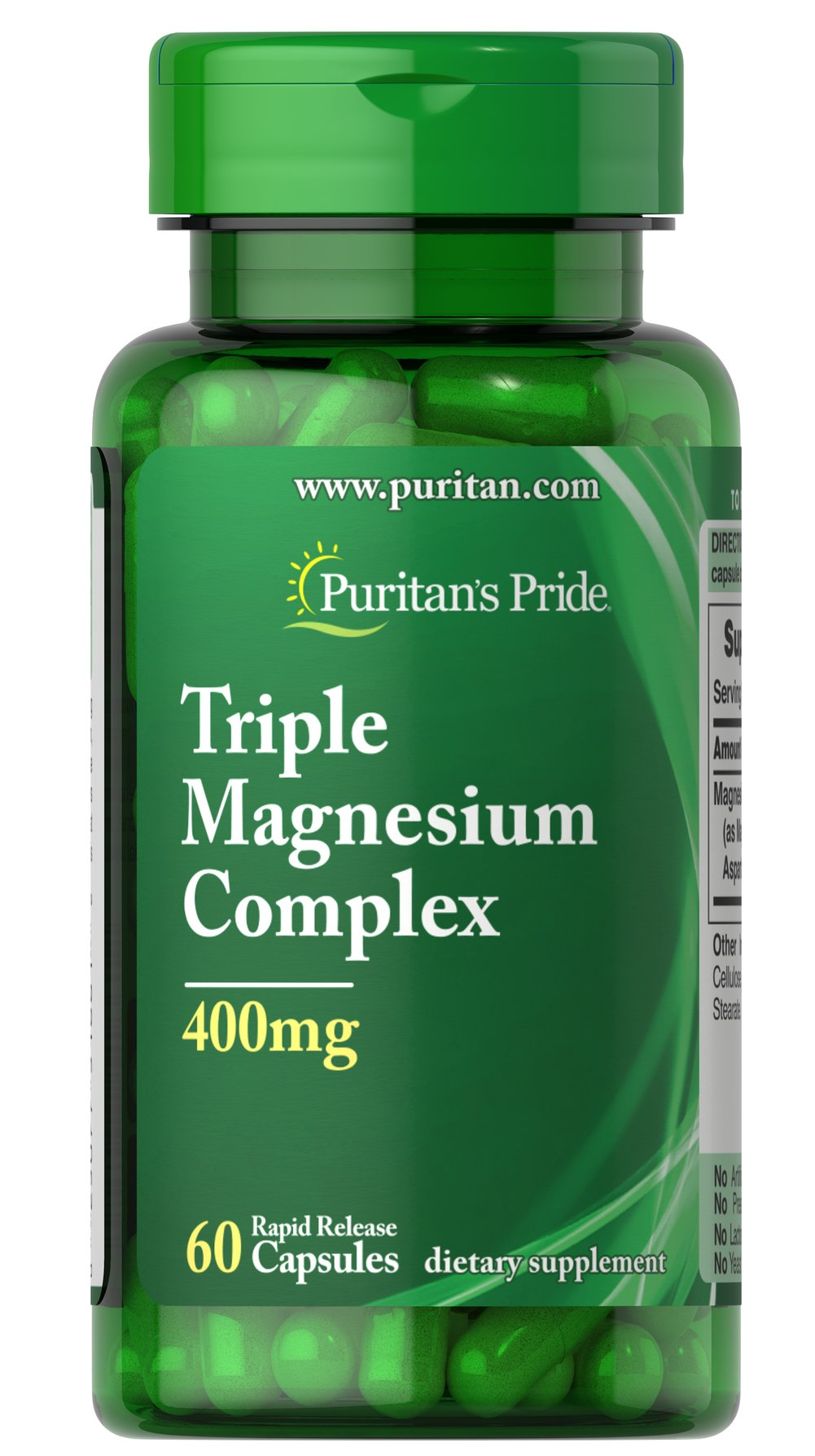 Triple Magnesium Complex 400 mg 60 Capsules | Mineral Products ...