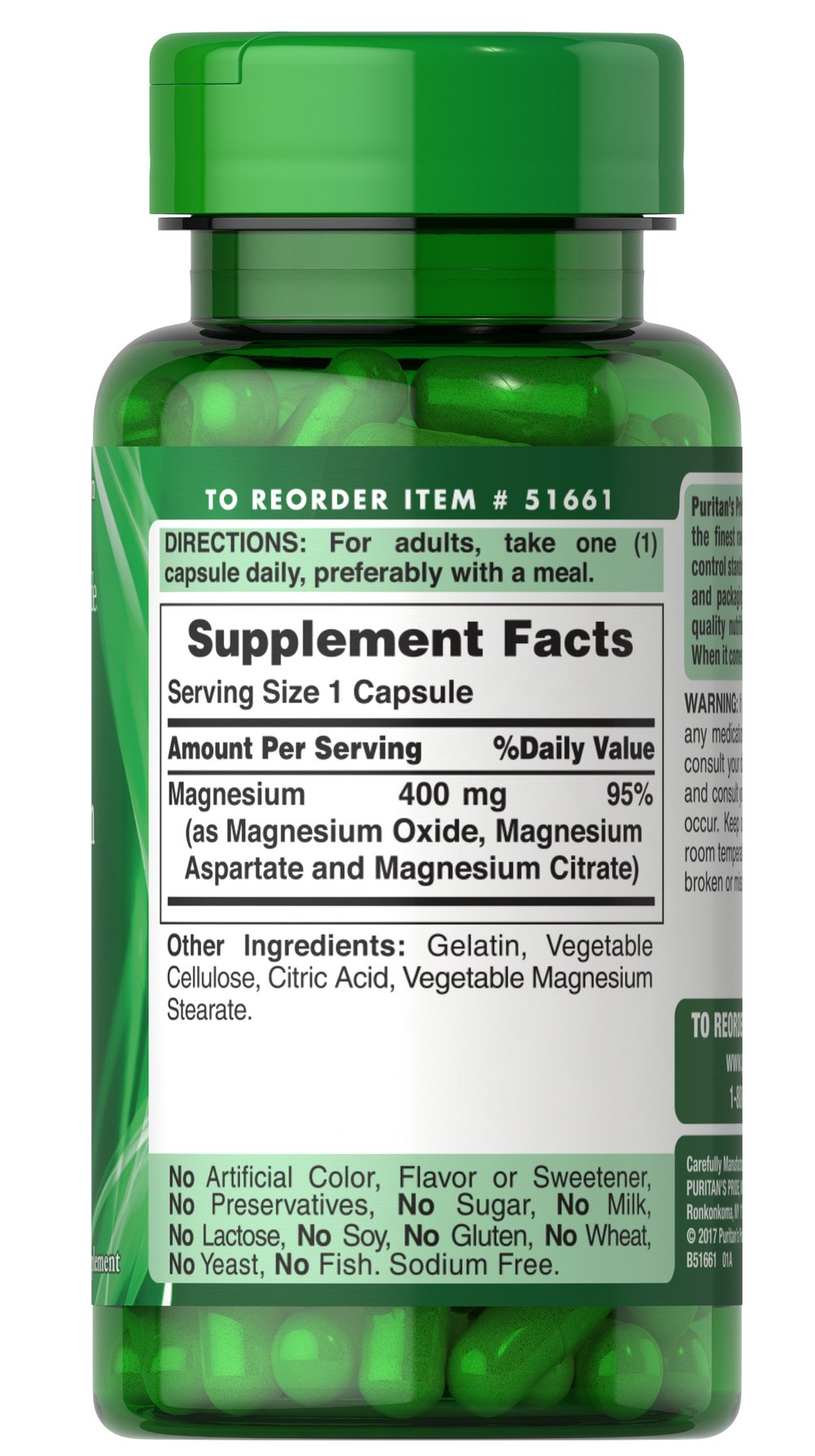 Triple Magnesium Complex 400 mg Thumbnail Alternate Bottle View