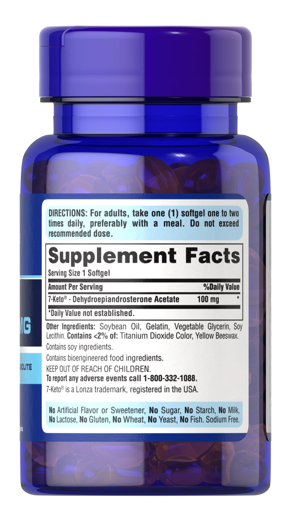 7-Keto® DHEA 100 mg Thumbnail Alternate Bottle View
