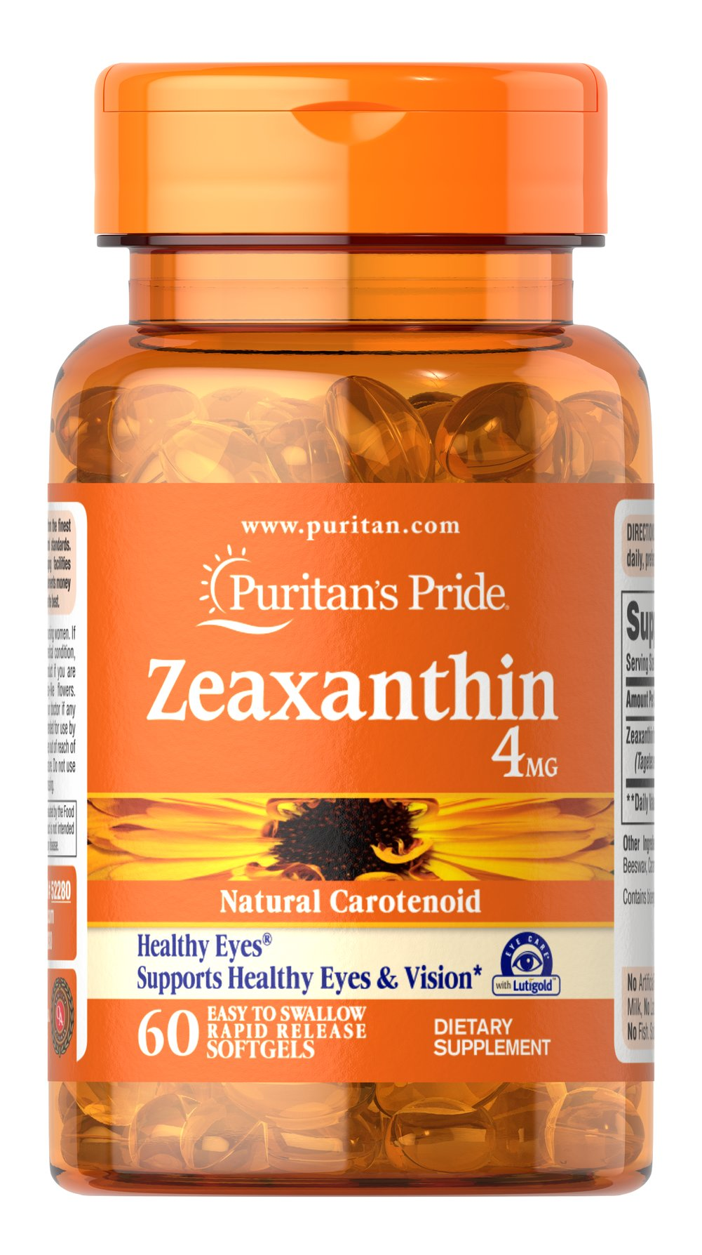 Zeaxanthin 4 mg Thumbnail Alternate Bottle View