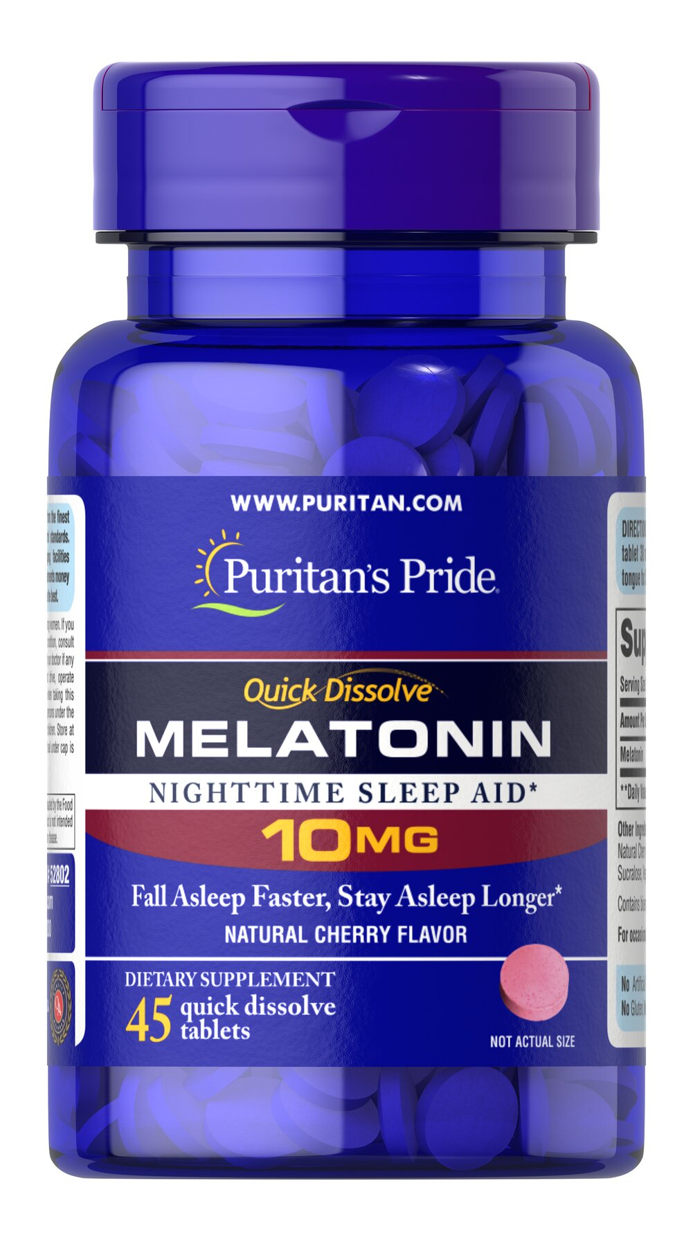 Quick Dissolve Melatonin 10 mg Cherry Flavor