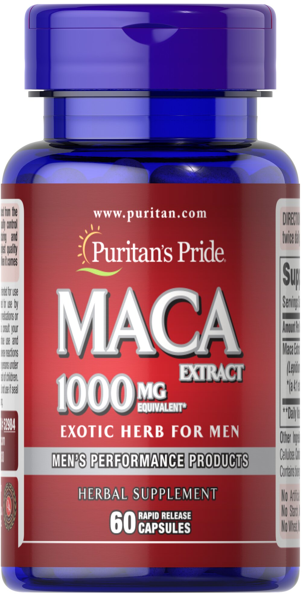 Maca 1000 mg Exotic Herb for Men Thumbnail Alternate Bottle View
