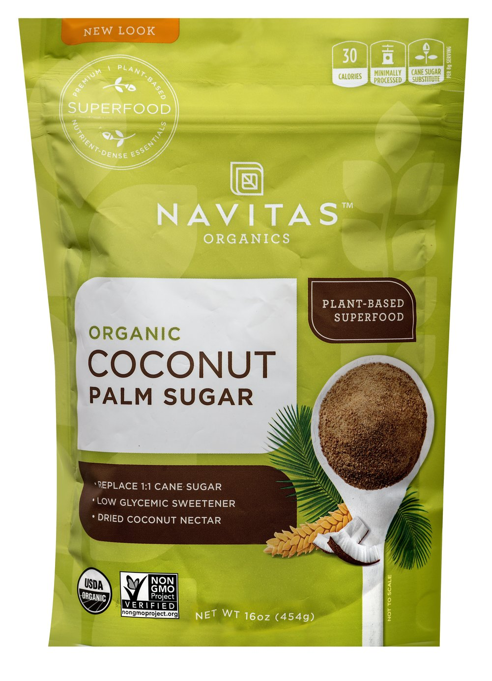 Organic Coconut Palm Sugar Thumbnail Alternate Bottle View