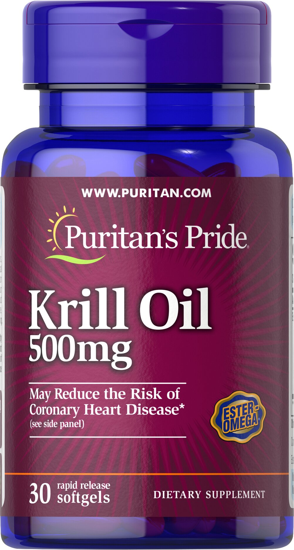 Red Krill Oil 500 mg (86 mg Active Omega-3) Thumbnail Alternate Bottle View