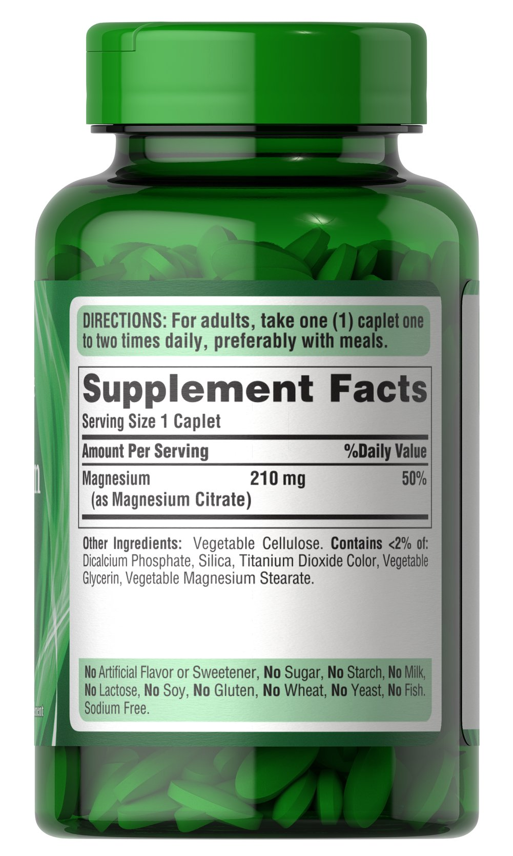 Magnesium Citrate 210mg Thumbnail Alternate Bottle View