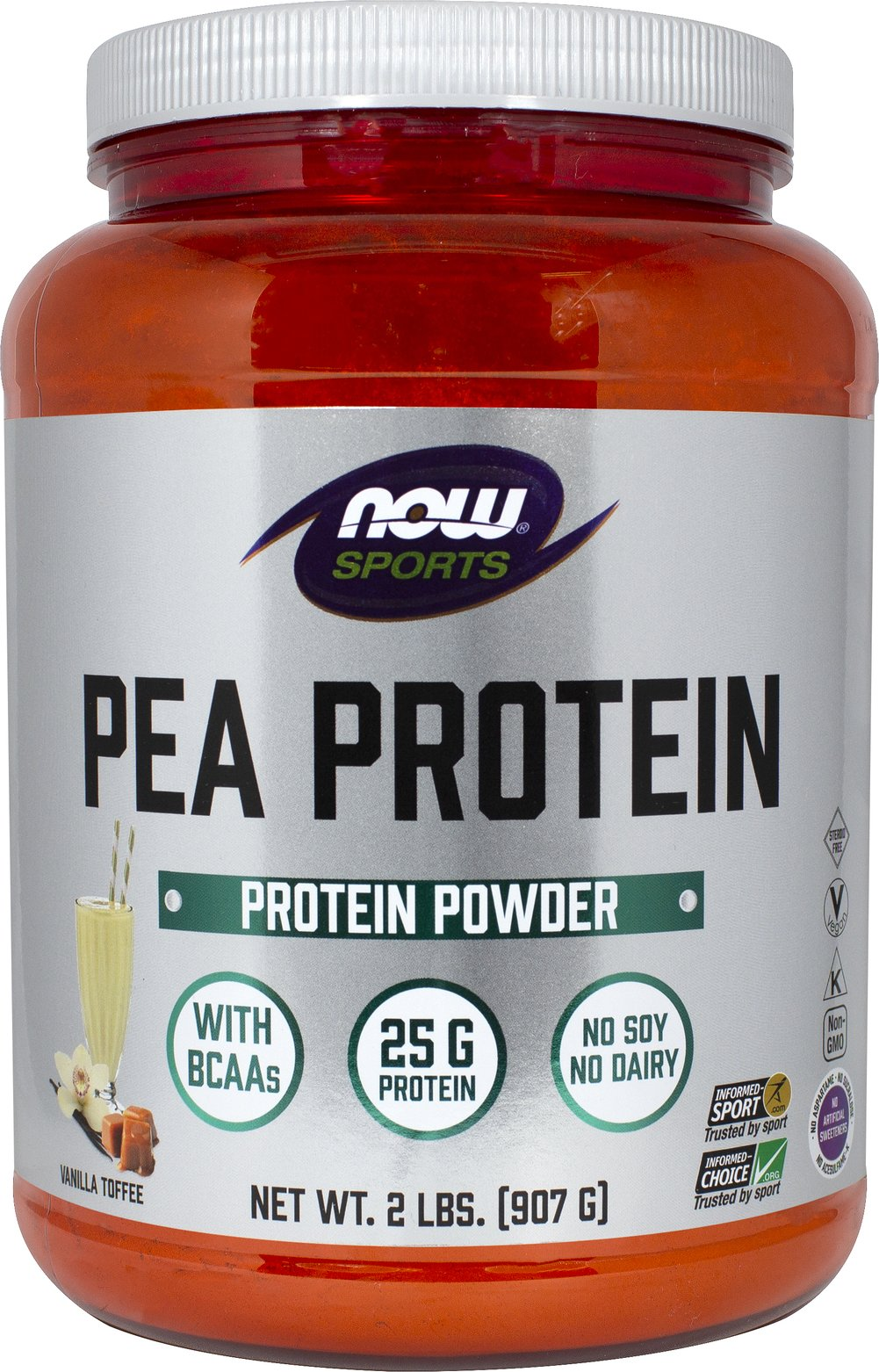 Pea Protein Vanilla Toffee Thumbnail Alternate Bottle View