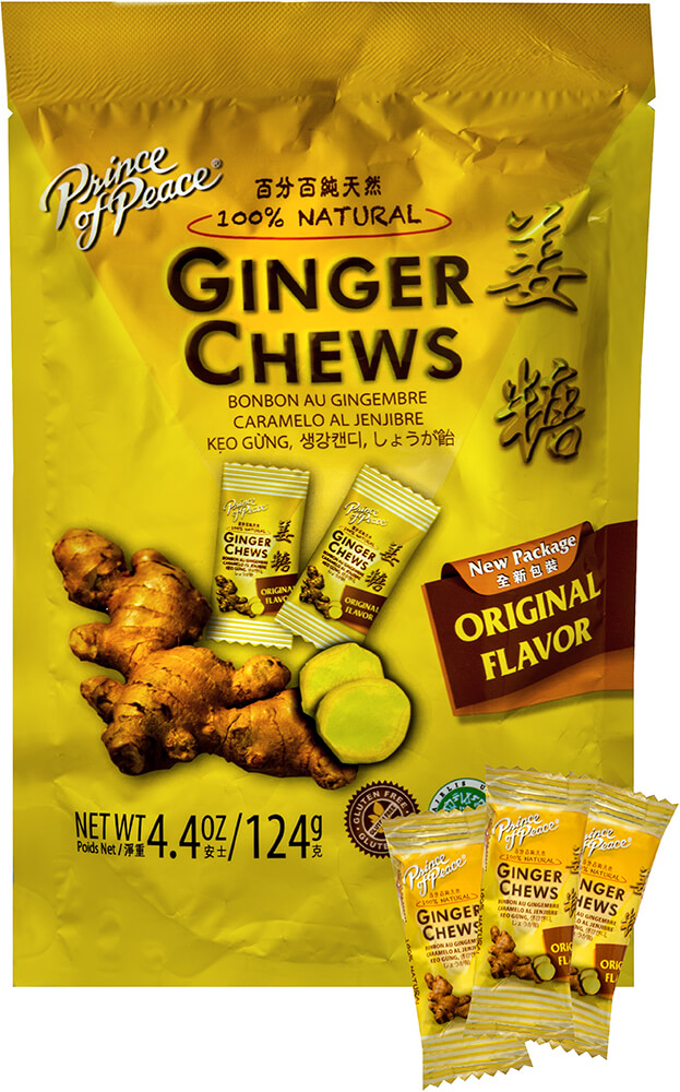 100% Natural Ginger Candy Chews Thumbnail Alternate Bottle View