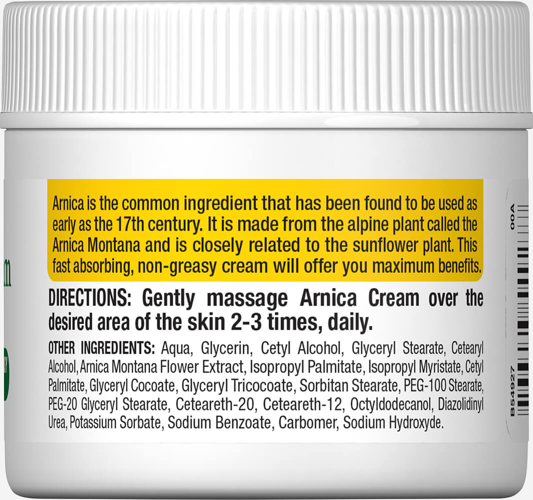 Arnica Cream Thumbnail Alternate Bottle View