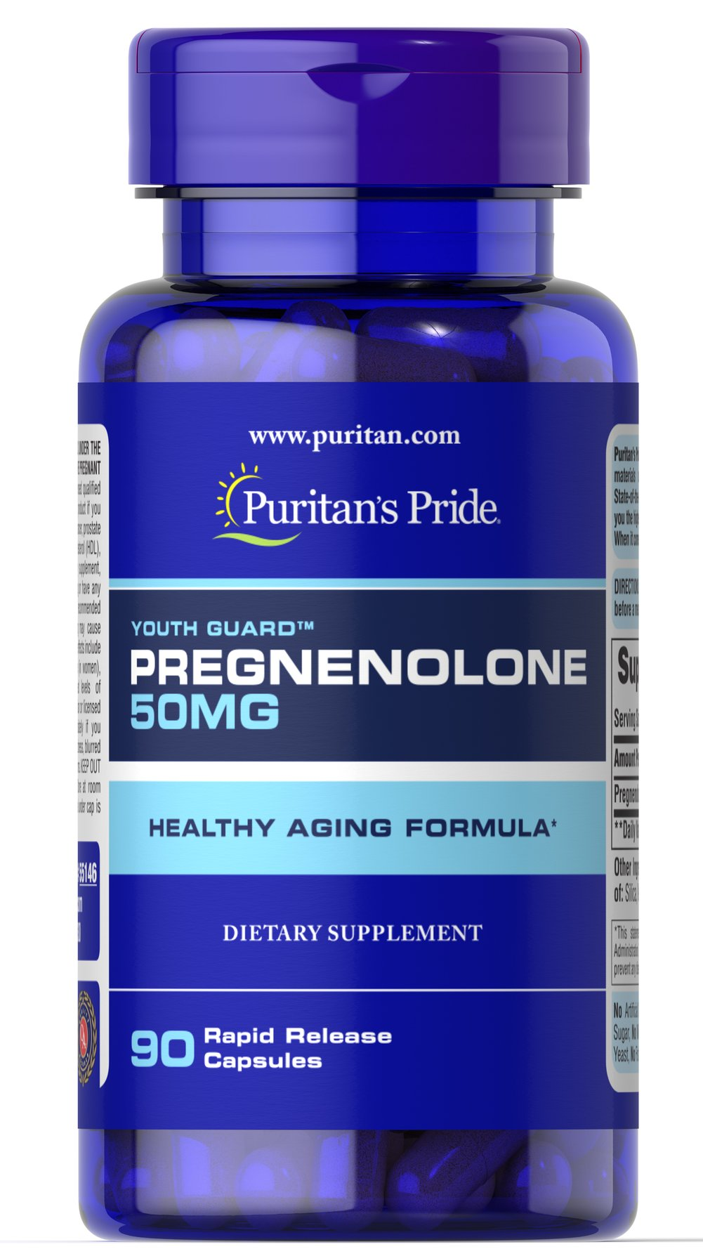 Pregnenolone 50 mg Thumbnail Alternate Bottle View