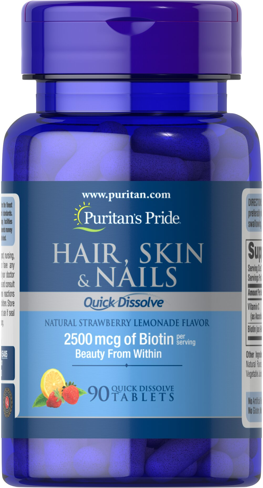 Quick Dissolve Hair Skin Nails Thumbnail Alternate Bottle View