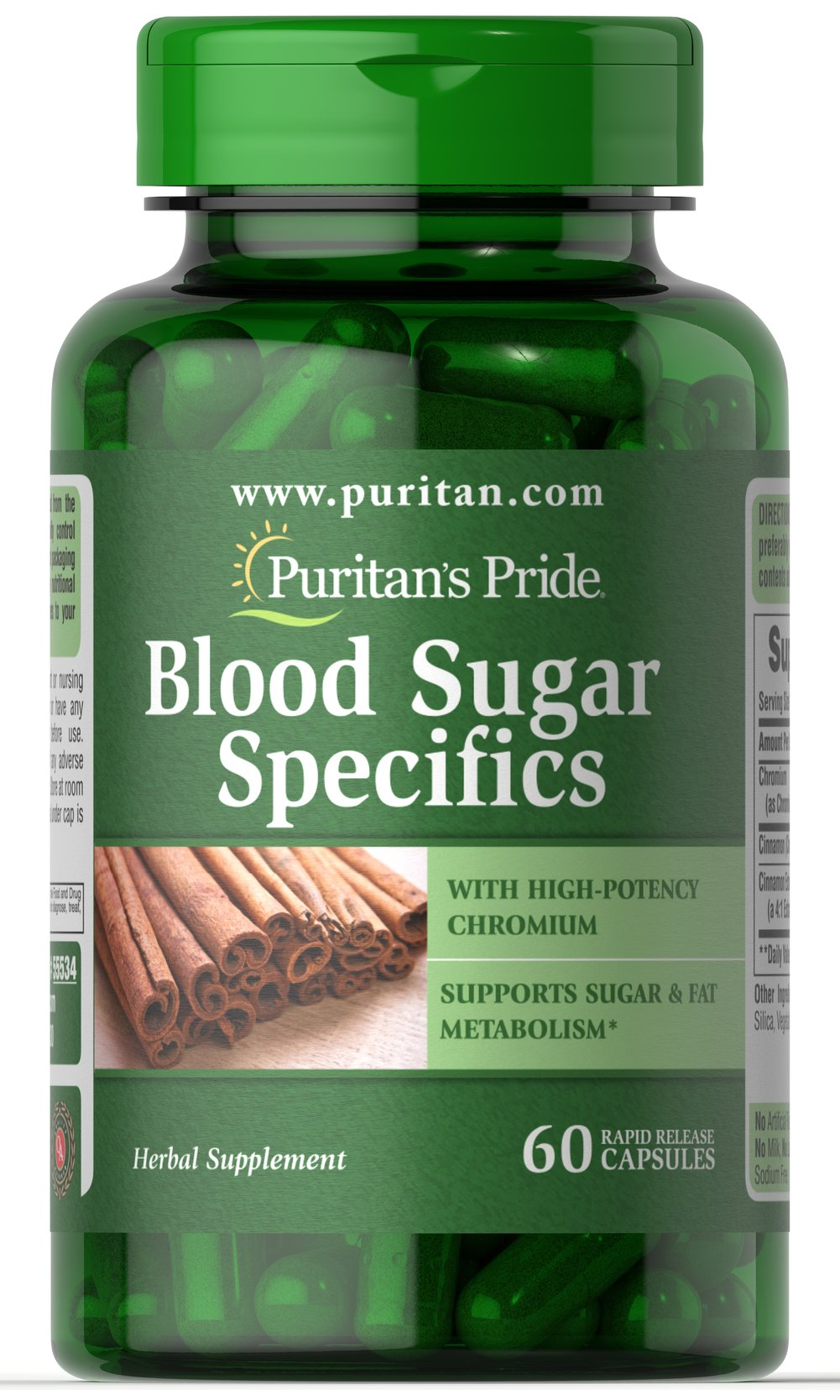 Blood Sugar Specifics with Cinnamon & Chromium Thumbnail Alternate Bottle View