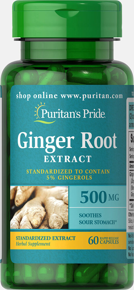 Ginger Root Standardized Extract 500mg