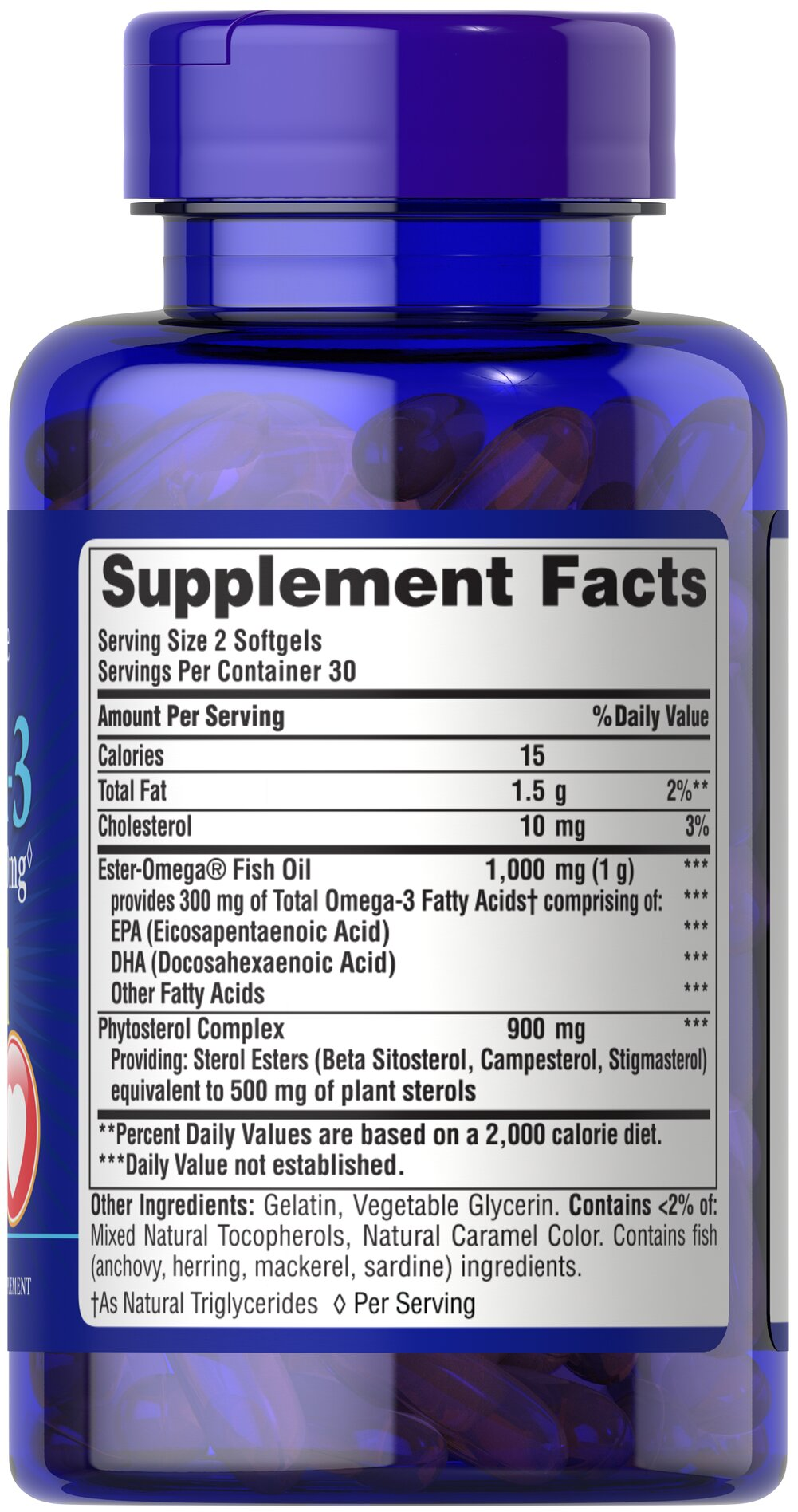 Omega-3 Fish Oil Plus Cholesterol Support**