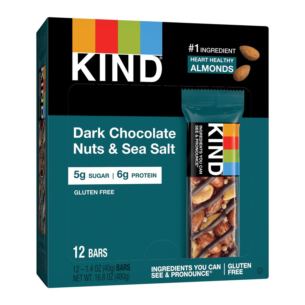 KIND Nuts & Spices Dark Chocolate Nuts & Sea Salt Thumbnail Alternate Bottle View