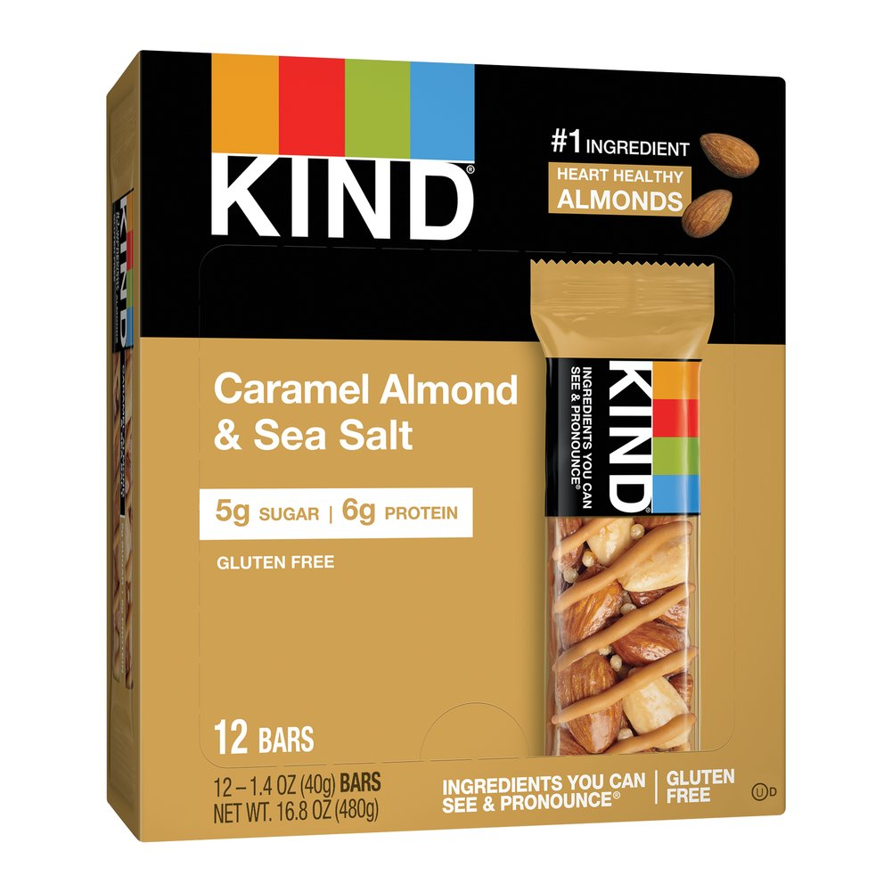 KIND Nuts & Spices Caramel Almond & Sea Salt Thumbnail Alternate Bottle View