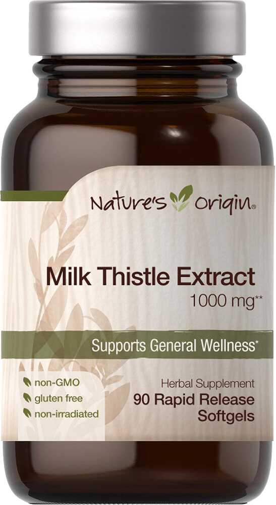 Milk Thistle Extract 1000 mg Thumbnail Alternate Bottle View