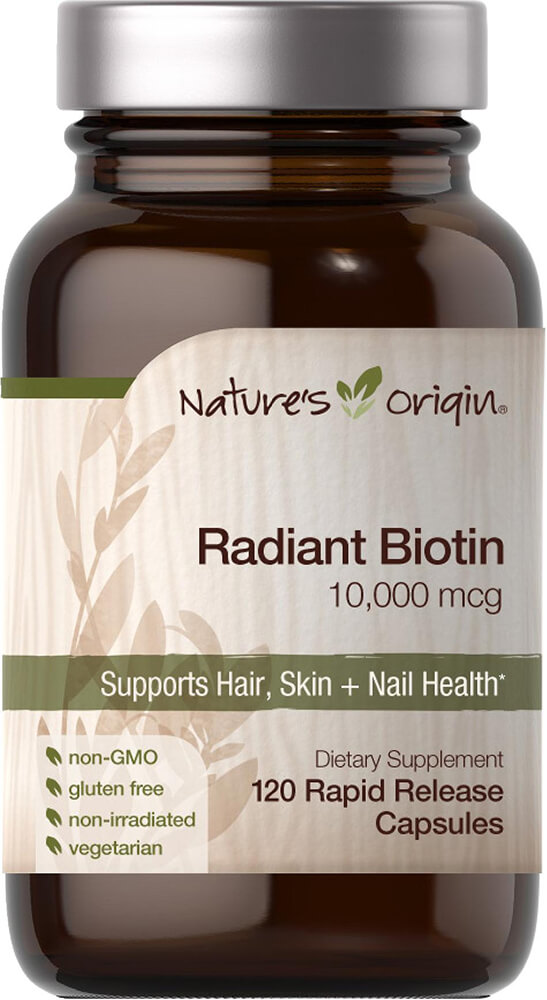 Radiant Biotin 10,000 mcg Thumbnail Alternate Bottle View