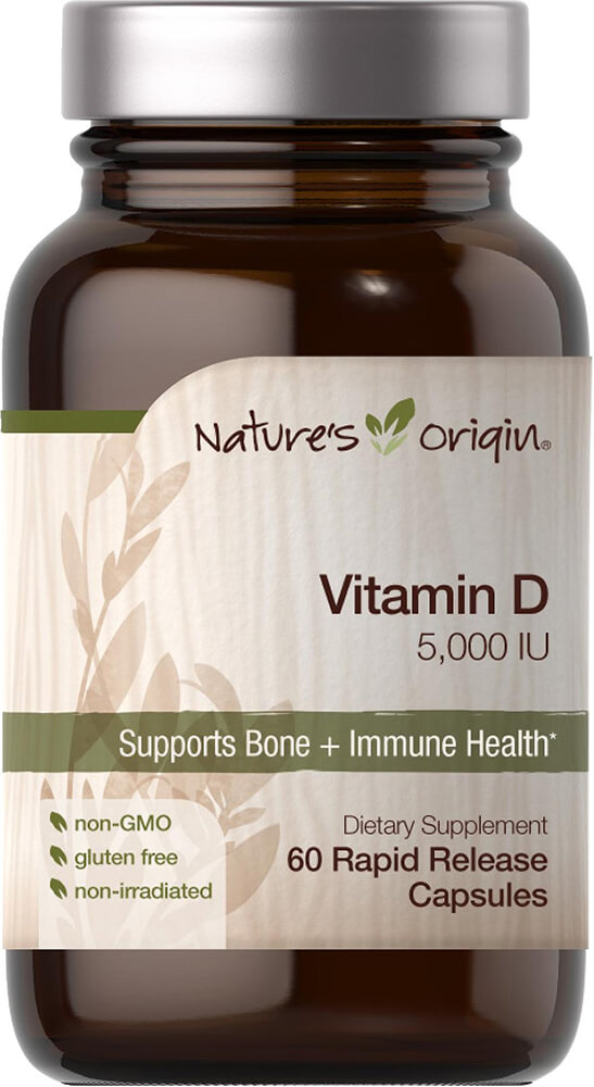 Vitamin D 5000 IU Thumbnail Alternate Bottle View