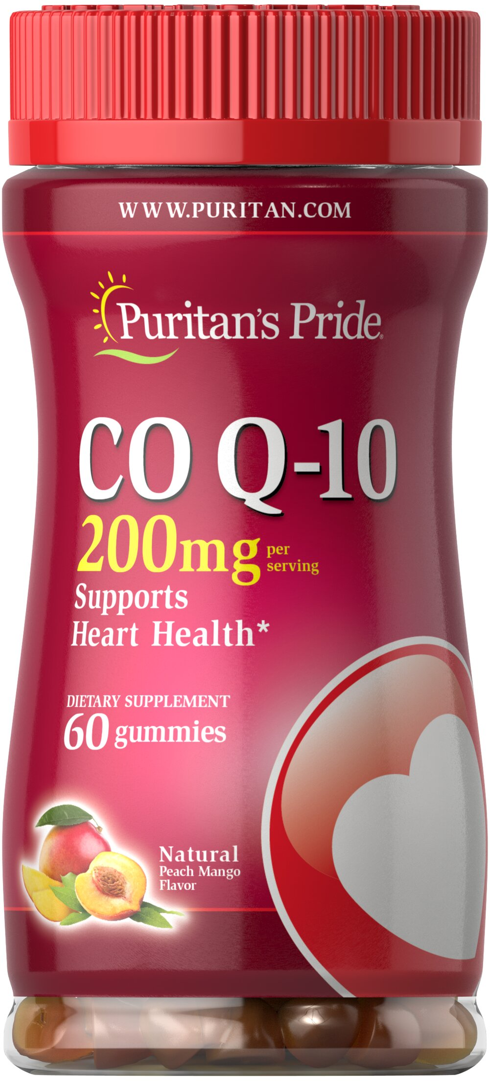 Co Q-10 200mg Peach Mango Gummies