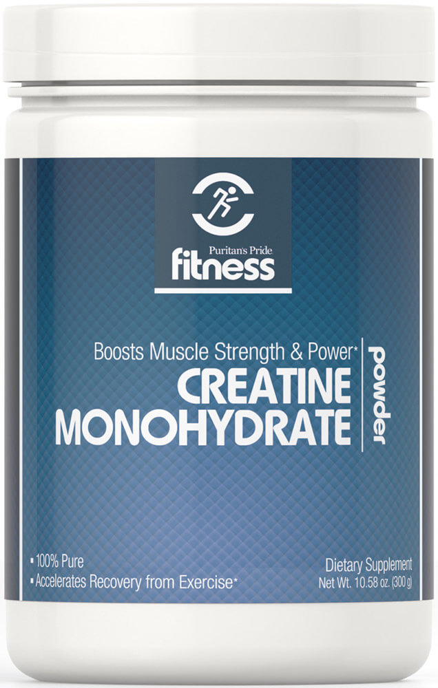 build muscle fastPuritan's Pride Fitness Creatine Monohydrate Powder 5000 mg-300 grams Powder