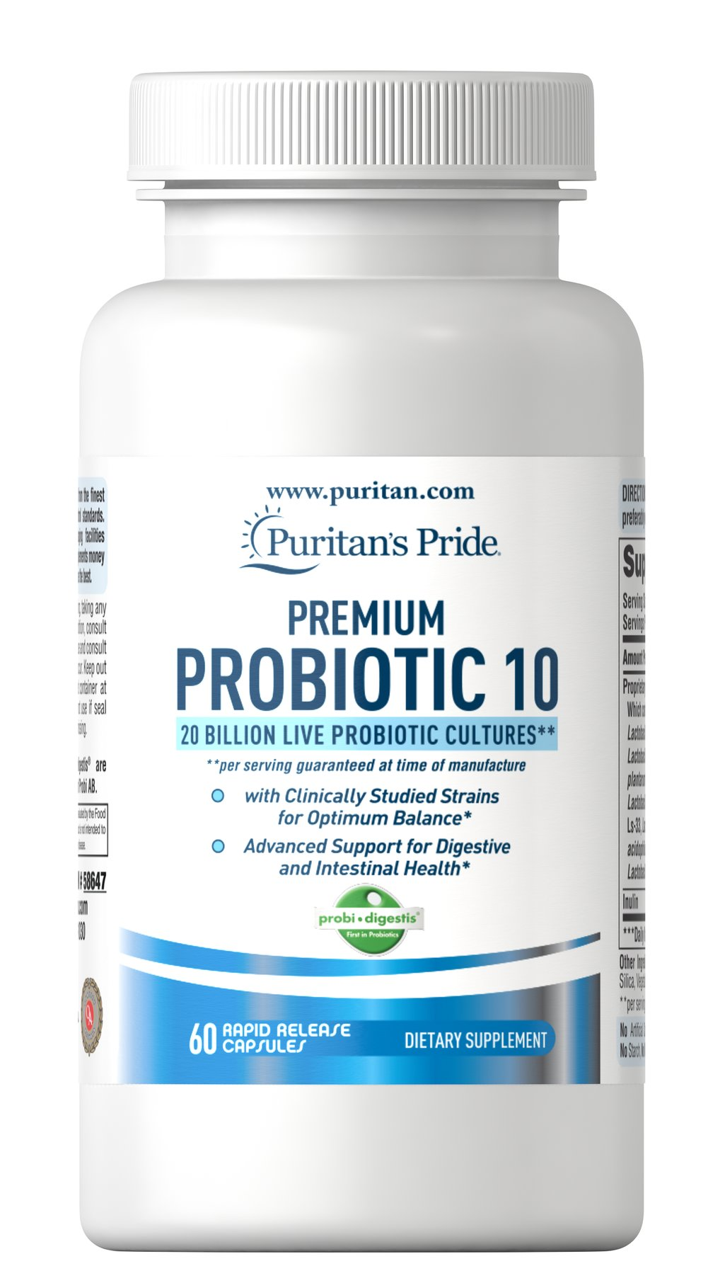 Premium Probiotic 10 Thumbnail Alternate Bottle View