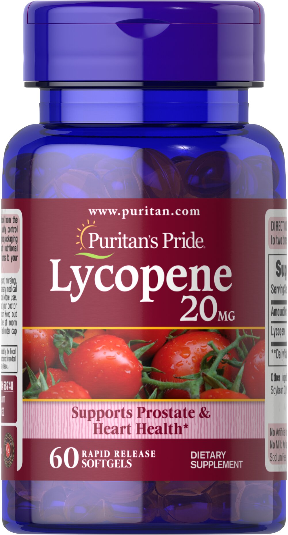 Lycopene 20 mg Thumbnail Alternate Bottle View