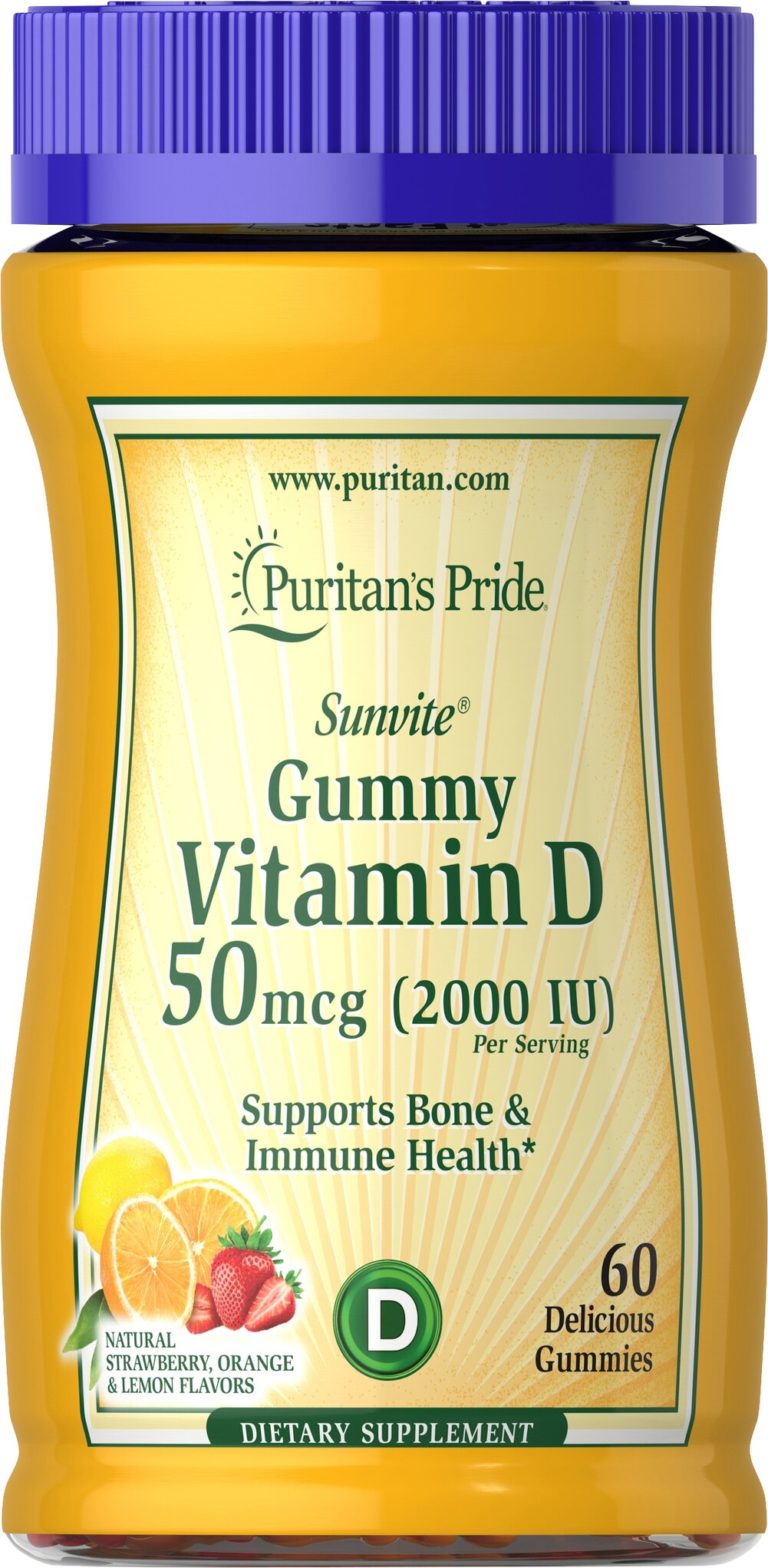 Vitamin D3 2000 IU (per serving) Gummies Thumbnail Alternate Bottle View