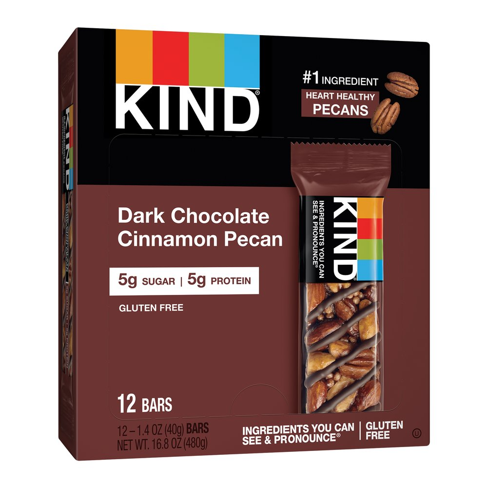KIND Nuts & Spices Dark Chocolate Cinnamon Pecan Thumbnail Alternate Bottle View