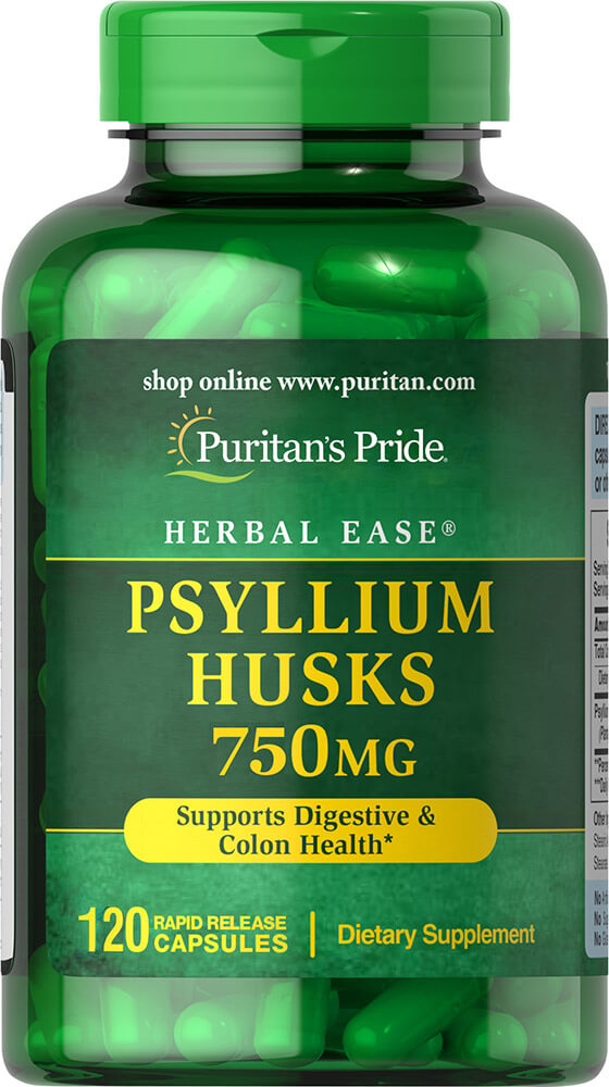 Psyllium Husks 750 mg Thumbnail Alternate Bottle View